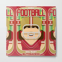 American Football Red and Gold - Hail-Mary Blitzsacker - June version Metal Print