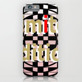 """"""" Limited Edition """" Gold White Typography // Chess Circle Art Logo Design iPhone Case"""