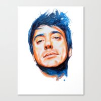 robert downey jr Canvas Prints featuring Robert Downey Jr. by KlarEm
