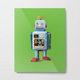 Retro Tin Toy Robot Polygon Art Metal Print