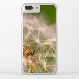 Snowglobe - Macro Photograph of Dandelion Clear iPhone Case