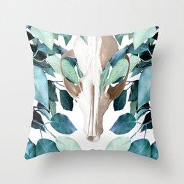 Fox into the Greenery Throw Pillow