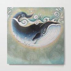 the Blue Whale Metal Print