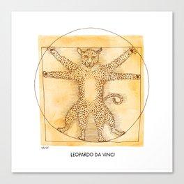 Leopardo da Vinci Canvas Print