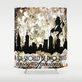 Classy and Fabulous Shower Curtain