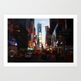Times Square Rush Art Print