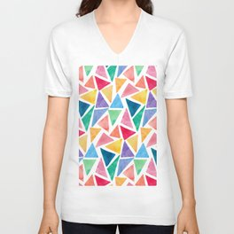 Watercolor Pattern Unisex V-Neck