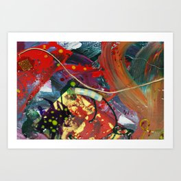 All Together Mixed Media Toys and Toy Box Art Print