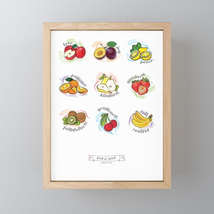 FRUITS OF THE SPIRIT Framed Mini Art Print