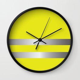 Yellow Vest Costume Wall Clock