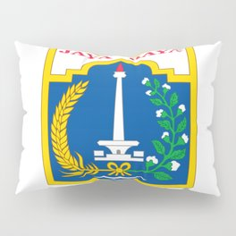 flag of jakarta or Djakarta Pillow Sham
