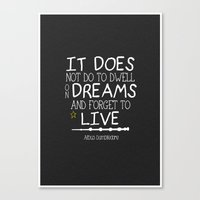 dumbledore Canvas Prints featuring Dumbleism - Dumbledore Quote 1 by Teacuppiranha
