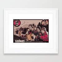goonies Framed Art Prints featuring THE GOONIES by Mike Wrobel