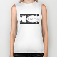 rome Biker Tanks featuring Rome by BNK Design