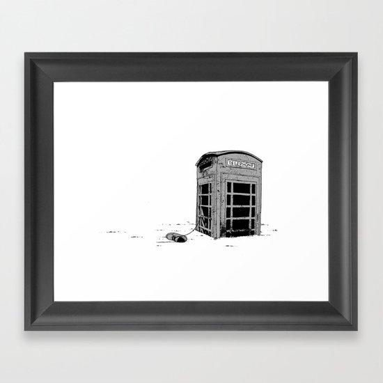Call For Assistance Framed Art Print