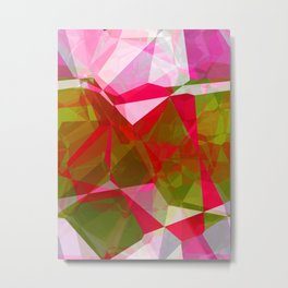 Crape Myrtle Abstract Polygons 2 Metal Print