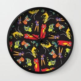 Oaxacan Animals Wall Clock