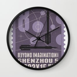 Beyond imagination: Shenzhou 5 postage stamp  Wall Clock