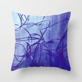 metal wire solarized Throw Pillow