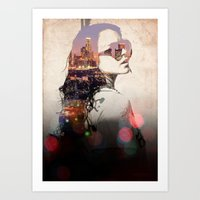 lindsay lohan Art Prints featuring LA - LOHAN by Tiaguh