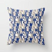 military Throw Pillows featuring Military by antonio&marko