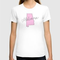 alabama T-shirts featuring Alabama - Pink by Oh Happy Roar - Emily J. Stivers