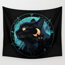Puss the Devil Cat Wall Tapestry