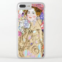 "Gustav Klimt ""Portrait of Maria Munk (unfinished)"" Clear iPhone Case"