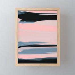Soft Determination Peach Framed Mini Art Print