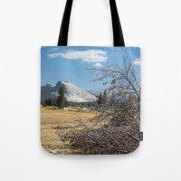yosemite Tote Bags featuring Yosemite by Adelaine Phee