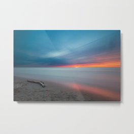 Colorful Sunset Beach Metal Print