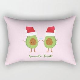 Holiday Avocado Toast Rectangular Pillow