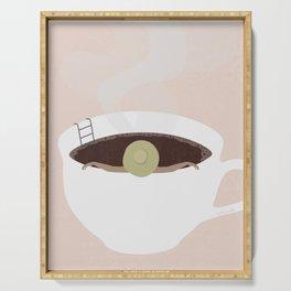 Coffee Bath Serving Tray