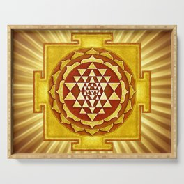 Sri Yantra IV.V Serving Tray