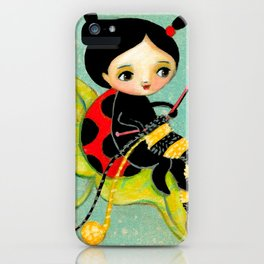 The Ladybug Knitter by Tascha iPhone Case