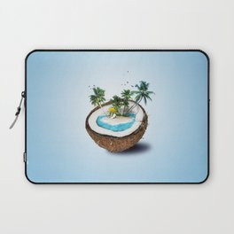 The illusion of the sea paradise blue Laptop Sleeve