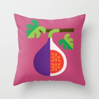 fig Throw Pillows featuring Fruit: Fig by Christopher Dina