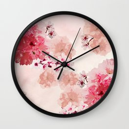 Floral Rage Wall Clock