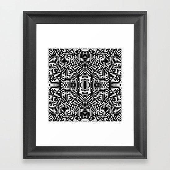 Radiate (BW) Framed Art Print