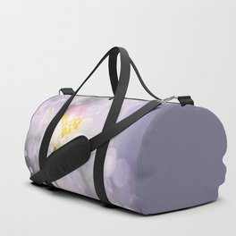 White Flower In The Forest Enchantments - Bokeh Background #decor #buyart #society6 Duffle Bag