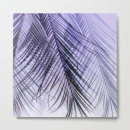 Palm Leaves On A Violet Background #decor #society6 #buyart Metal Print