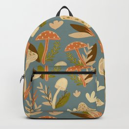Mushroom Forest in Retro  Backpack