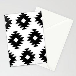 Southwestern Pattern 822 Black and White Stationery Cards