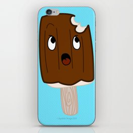Sad Food - Topsy Turvy Ice Cream by Squibble Design iPhone Skin