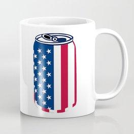 American Beer Can Flag Coffee Mug