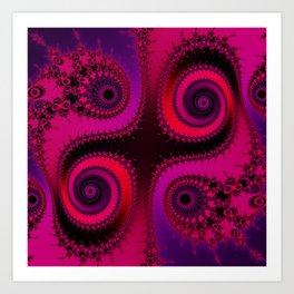 Psychedelic Spirals - fractal art Art Print