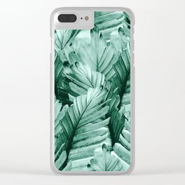 Green Banana Leaves Dream #4 #tropical #decor #art #society6 Clear iPhone Case