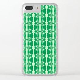 Saloon Wallpaper Mint Green Sap Green Country Wallpaper Molding Southwestern Design Pattern Clear iPhone Case