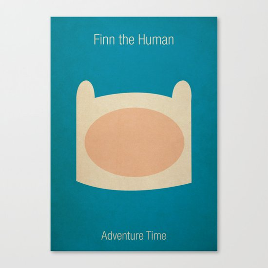 Minimalist Adventure Time Finn Canvas Print