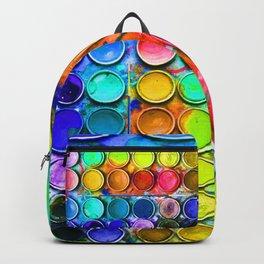 Watercolor Art Palette Backpack